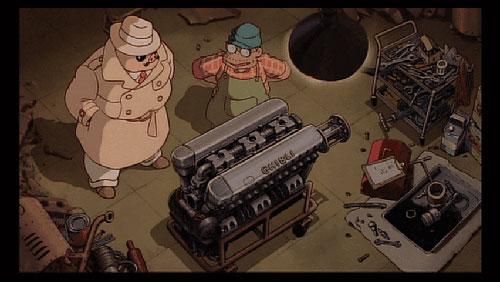紅の豚のエンジンに書かれたGHIBLI