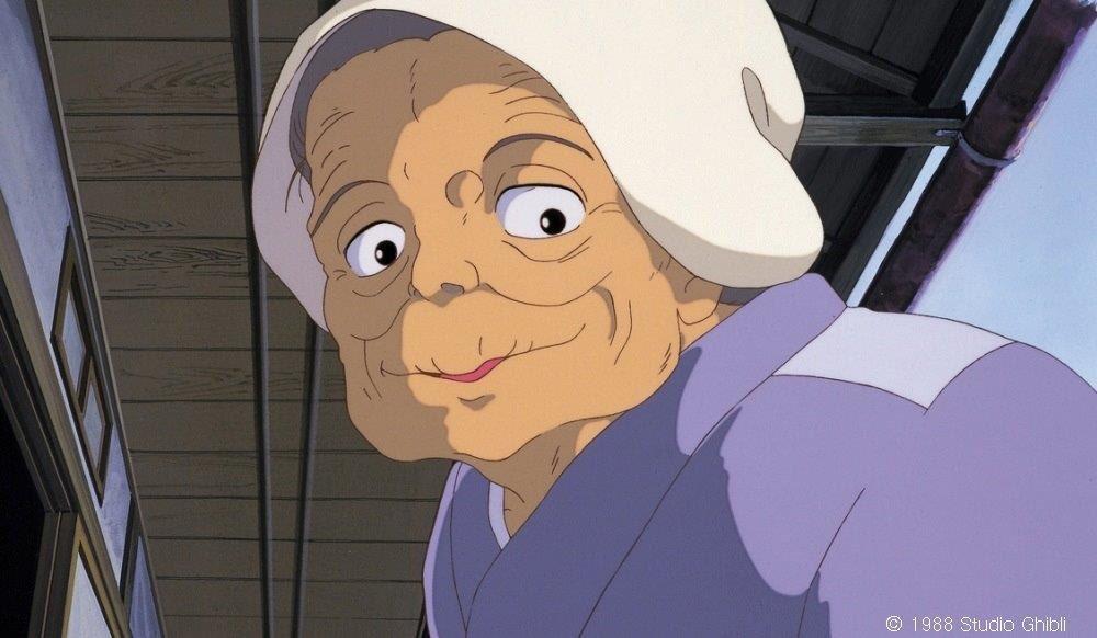 微笑むおばあちゃん