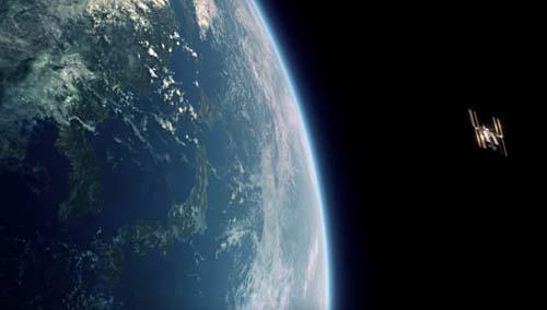 宇宙ステーションから見た地球