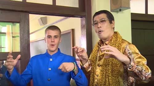 ジャスティンビーバーとピコ太郎
