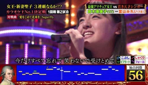 Superflyを歌う鈴木瑛美子