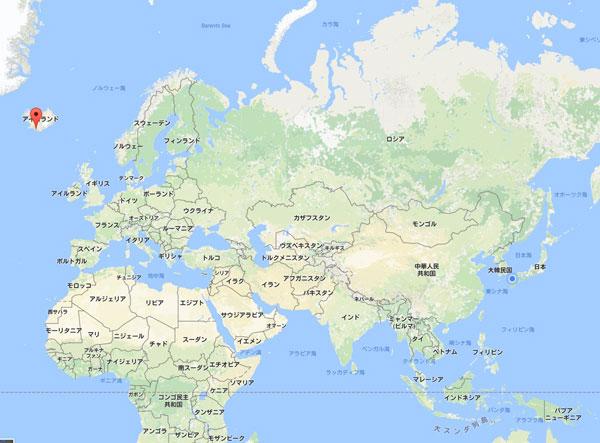 セリャラントスフォスの地図