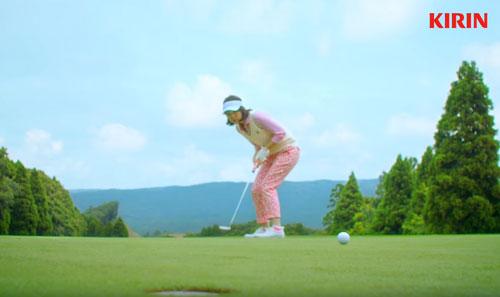 一番搾りゴルフのCM1