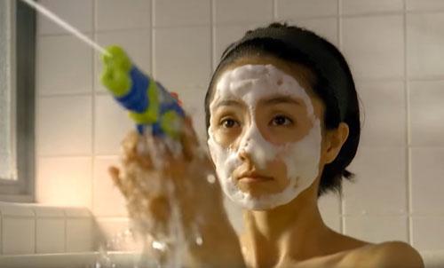 専科お風呂で泡パックのCM2