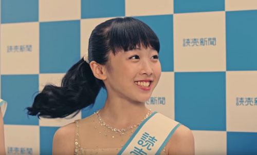 読売新聞本田3姉妹のCM5