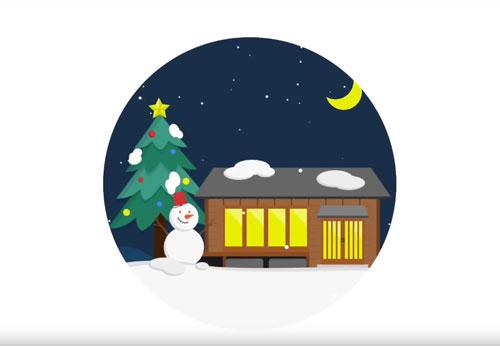グーグルホームクリスマスのCM1